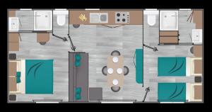 Chalet de Luxe 4 personen met tweede badkamer