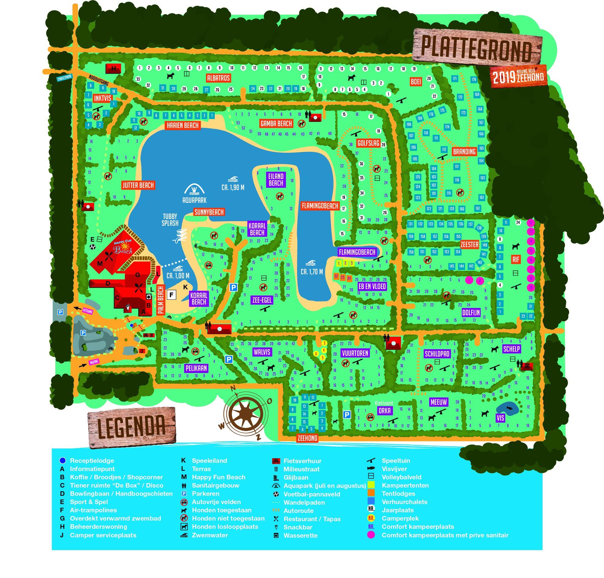 Plattegrond vakantiepark het Stoetenslagh -