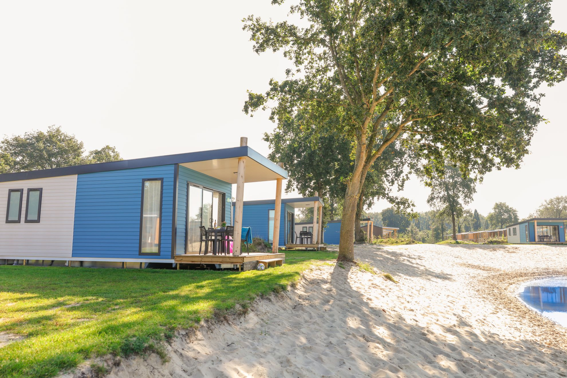Kim Beach Top TV 4 pers. - Chalet Kim - strandvakantie in Overijssel